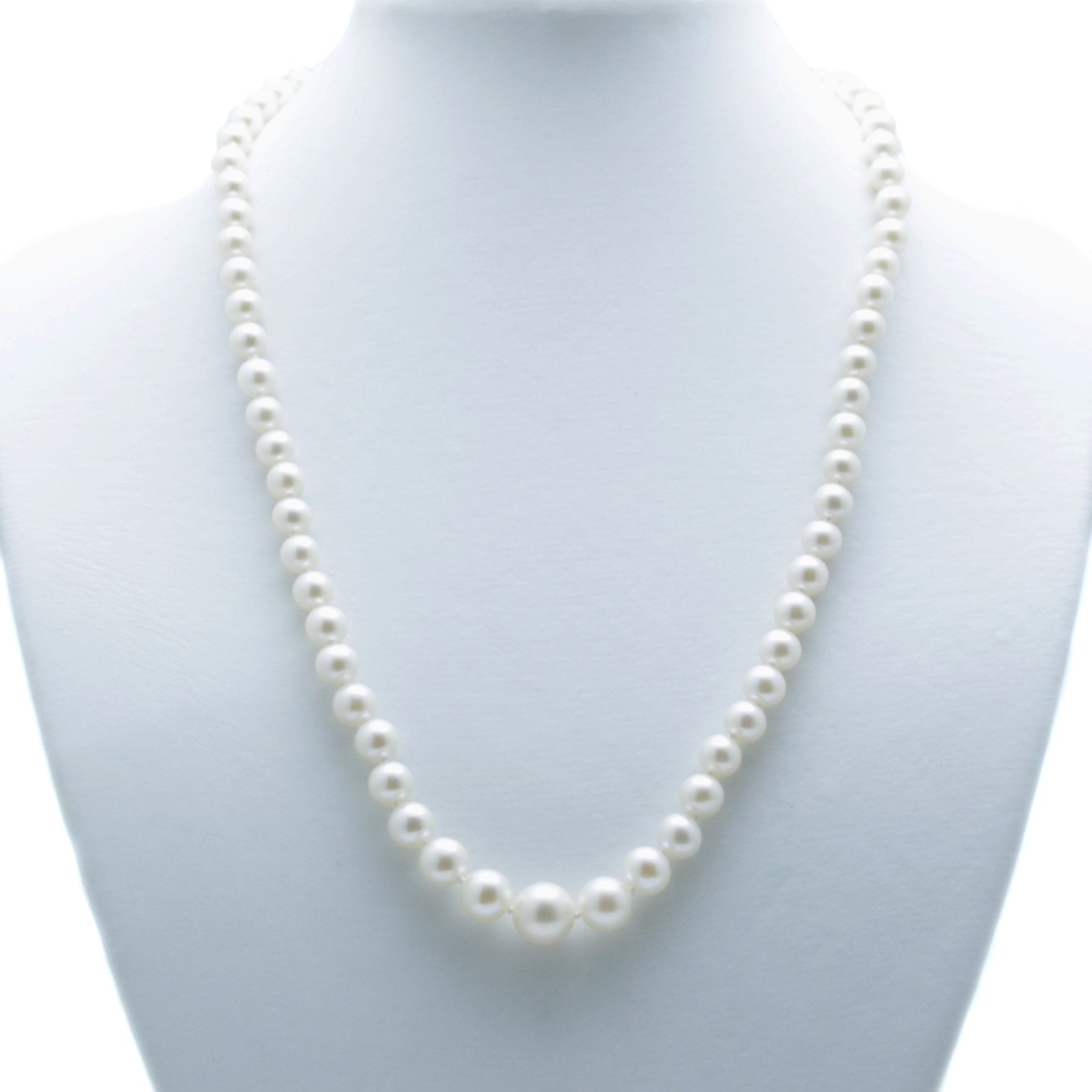 String Pearl Necklace: AA 4-9mm Round Graduated String